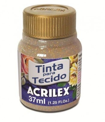 ACRILEX PINTURA DE TELA 37ml GLITTER