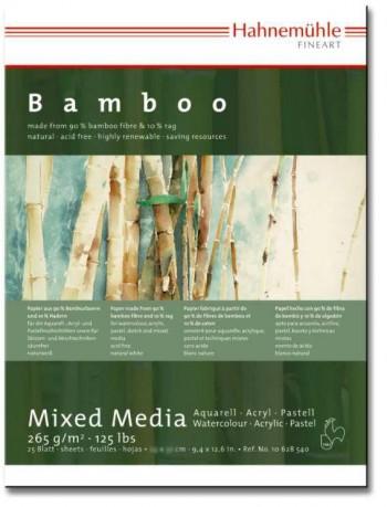HAHNEMÜHLE BAMBOO BLOC TÉCNICAS MIXTAS 25 HOJAS 265 g/m  BLANCO NATURAL