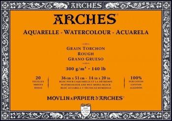 ARCHES BLOC ACUARELA GRANO GRUESO 300GR 20 HOJAS (ENCOLADO 4 LADOS)