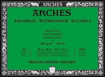 ARCHES BLOC ACUARELA GRANO FINO 300GR 20 HOJAS (ENCOLADO 4 LADOS)