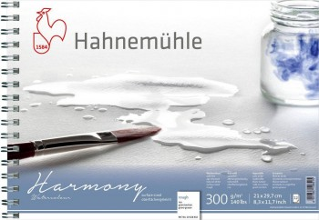 HAHNEMÜHLE HARMONY BLOC ACUARELA ESPIRAL GRANO GRUESO 12 HOJAS A4