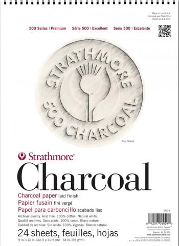 STRATHMORE BLOC PAPEL CARBONCILLO 24 HOJAS CHARCOAL BLANCO NATURAL