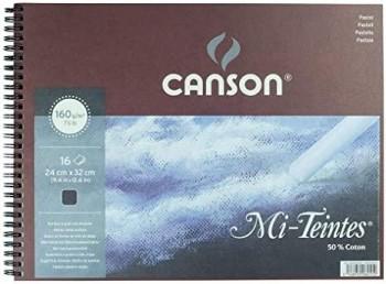 CANSON BLOC ESPIRAL MI-TEINTES 32x41cm 16 HOJAS