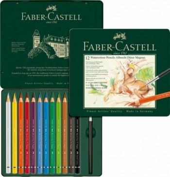 FABER-CASTELL 12 LAPICES A DURER MAGNUS ACUARELABLES CAJA DE METAL