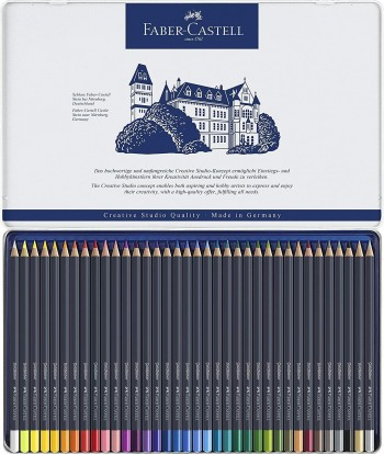 FABER-CASTELL ESTUCHE METAL 36 LAPICES GOLDFABER