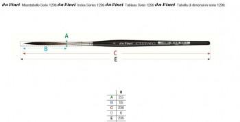 DA VINCI PINCEL SERIE 1298 CASANEO PELO LARGO-MANGO CORTO N.08