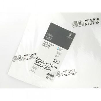 WINSOR & NEWTON 10 HOJAS PAPEL ACUARELA 640GR 100% ALGODÓN 56X76CM