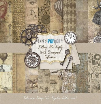 PAPERS FOR YOU COLECCIÓN 12 PAPELES KILLING ME SOFTLY WITH STEAMPUNK