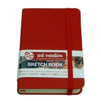 TALENS ART CREATION SKETCH BOOK BLOC ROJO 160G 80 HOJAS 9X14 CM