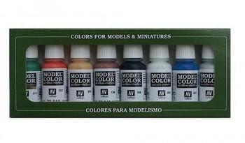 VALLEJO MODEL COLOR WARGAME BÁSICOS SET DE 8 COLORES 17 ML