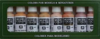 VALLEJO MODEL COLOR SET 8 COLORES PIEL DE 17 ML