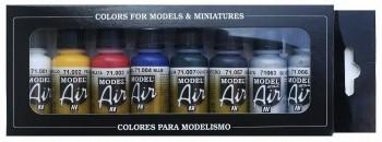 VALLEJO MODEL AIR SET 8 COLORES 17 ML