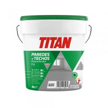 TITAN PINTURA ACRÍLICA PARA PAREDES Y TECHOS BLANCO 1 LITRO
