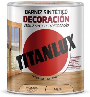 TITANLUX BARNIZ SINTÉTICO DECORACIÓN INCOLORO