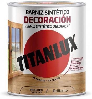 TITANLUX BARNIZ SINTÉTICO DECORACIÓN DE COLOR BRILLANTE