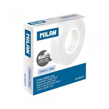 MILAN CINTA ADHESIVA DOBLE CARA 15 MM X 10 M